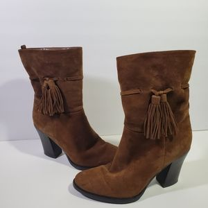 Marc Fisher Ankle Boots 7M Brown Suede